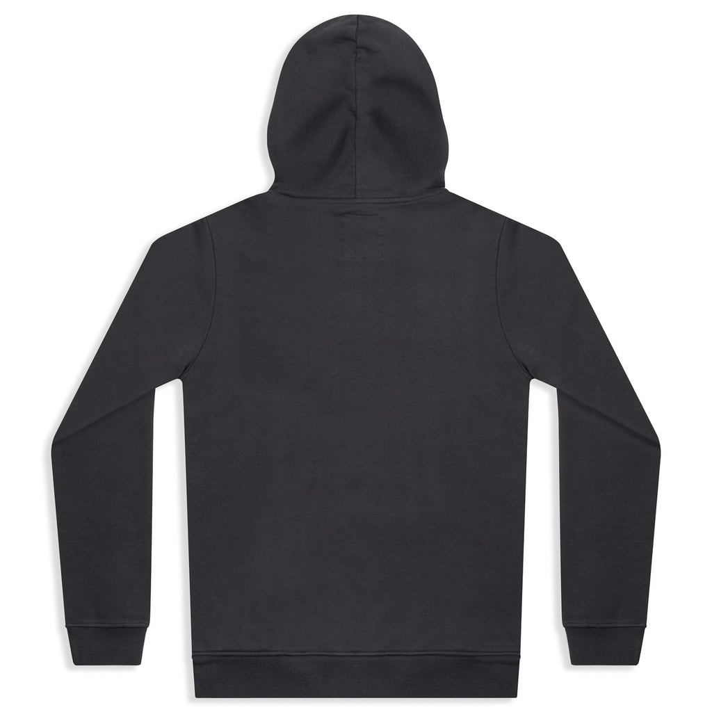 silverstick mens organic cotton hoodie lancelin charcoal back