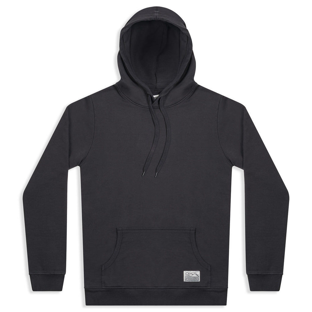 silverstick mens organic cotton hoodie lancelin charcoal front