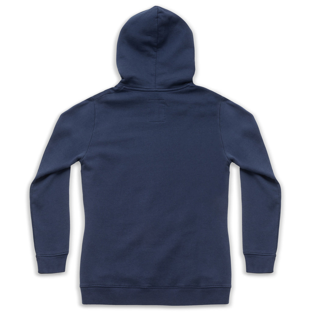 silverstick mens organic cotton hoodie lancelin navy back