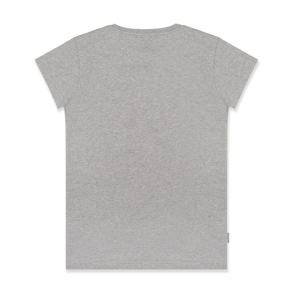 silverstick womens organic cotton original logo ash marl t shirt back