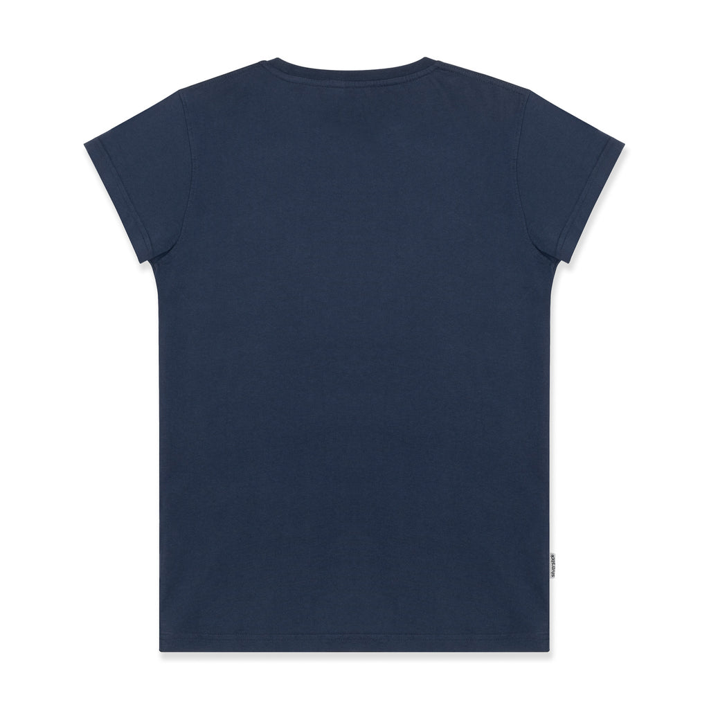 silverstick womens adventure organic cotton t shirt navy back