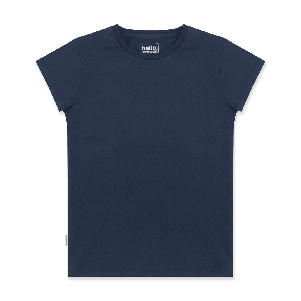 silverstick womens adventure organic cotton t shirt navy front