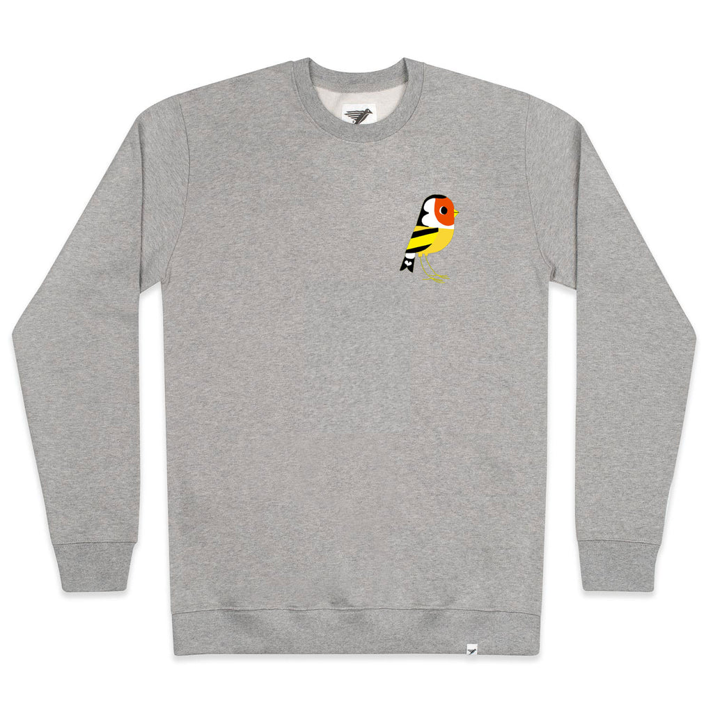 Silverstick mens matt sewell Goldfinch organic cotton sweat front