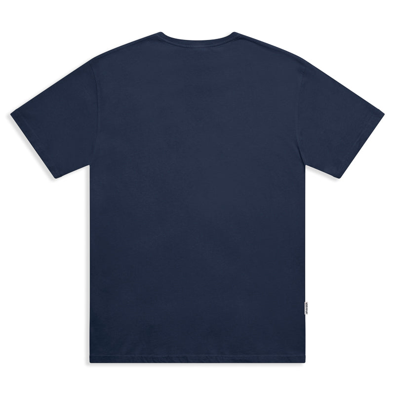 silverstick mens organic cotton bike navy tee back