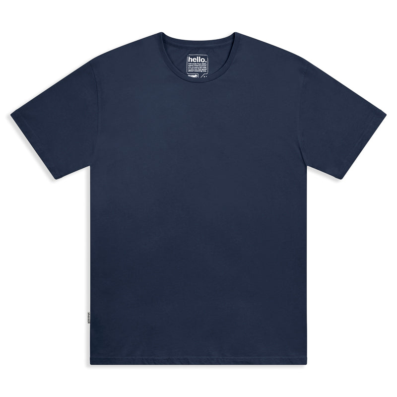 silverstick mens adventure organic cotton t shirt navy