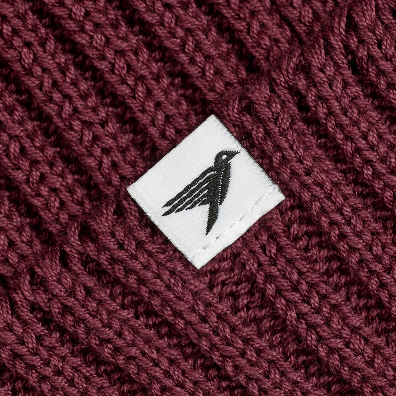 Silverstick Summit Organic Cotton Beanie Beaujolais Label