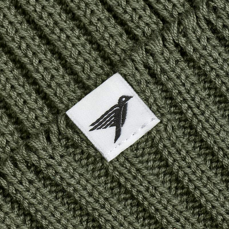 Silverstick Summit Organic Cotton Beanie Moss Label