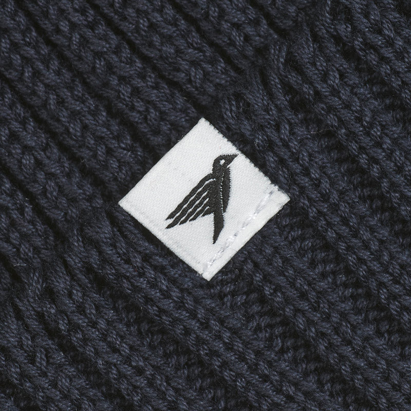 Silverstick Summit Organic Cotton Beanie Navy Label