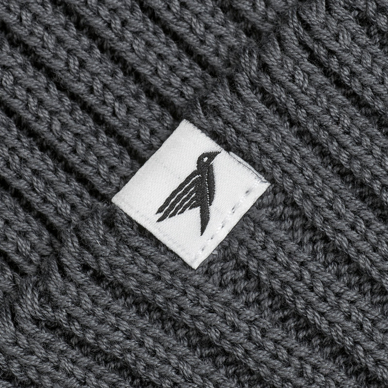 Silverstick summit organic cotton beanie slate label