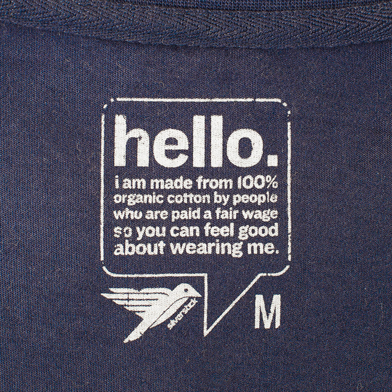silverstick mens organic cotton original logo navy t shirt label