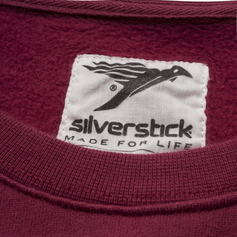 silverstick mens organic cotton arugam beaujolais sweat printed label