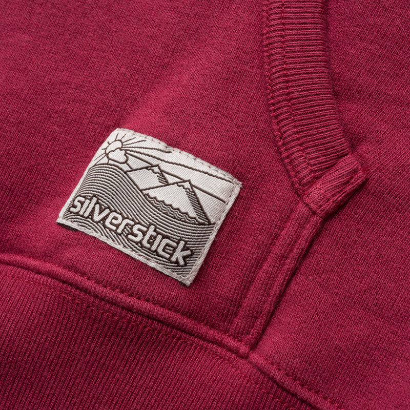 silverstick mens organic cotton ellerton beaujolais hoodie patch label