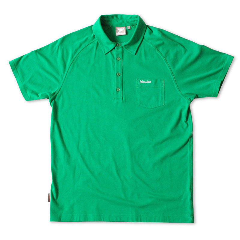silverstick mens organic cotton lopez forest green polo shirt