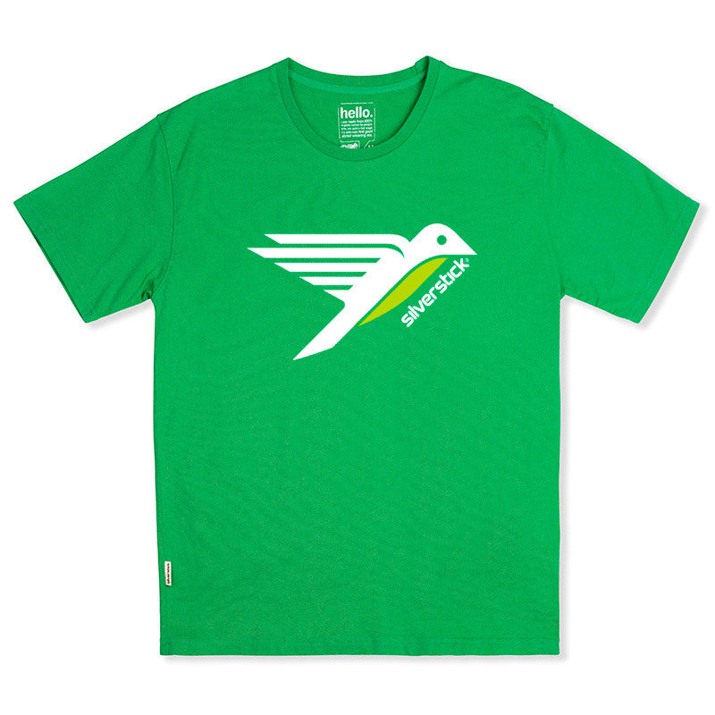 silverstick mens organic cotton t shirt logo forest green