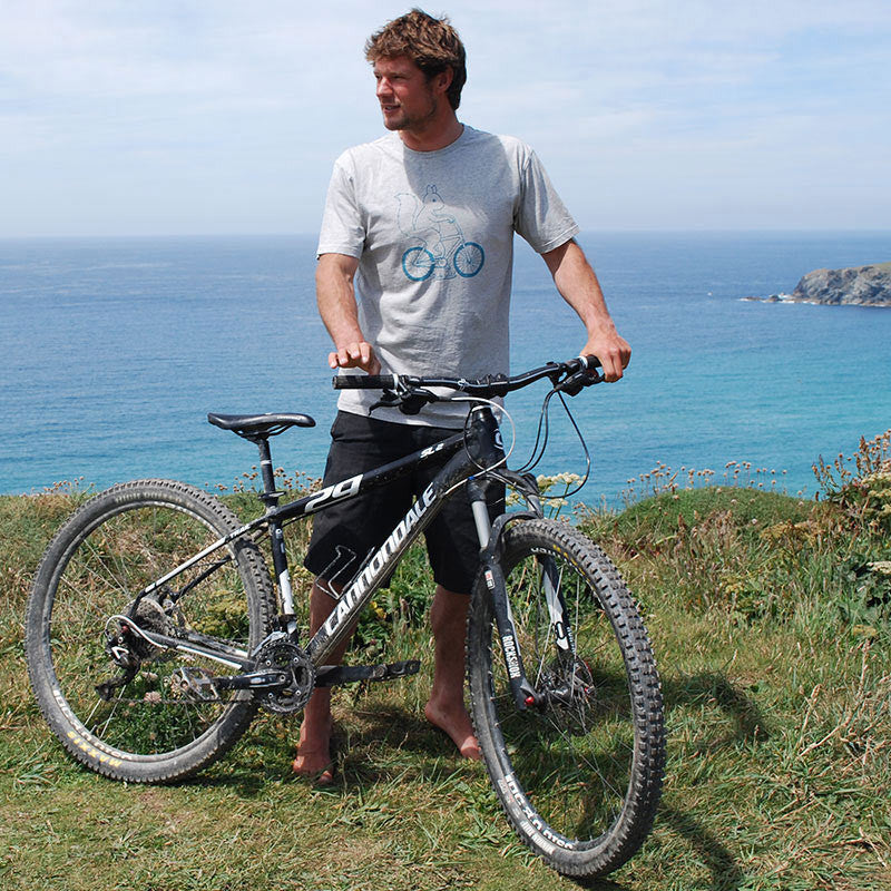 silverstick mens organic cotton ride wild ash marl t shirt adventure