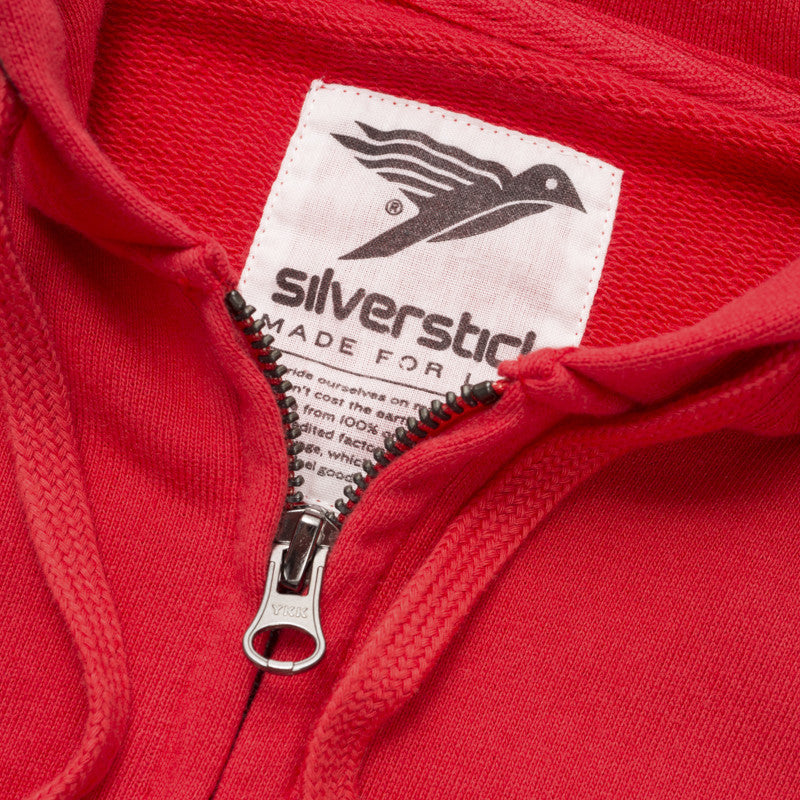 silverstick mens organic cotton tobias grenadine zip hoodie printed label