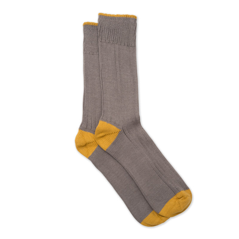 silverstick organic cotton caburn granite contrast day sock pair