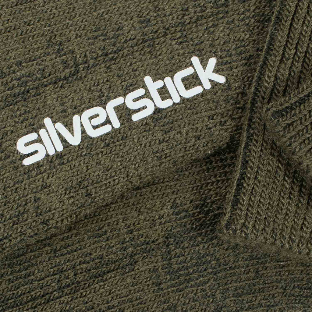silverstick natural wool alpine sock olive branding
