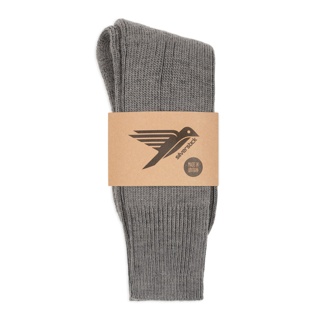 silverstick natural wool alpine sock slate