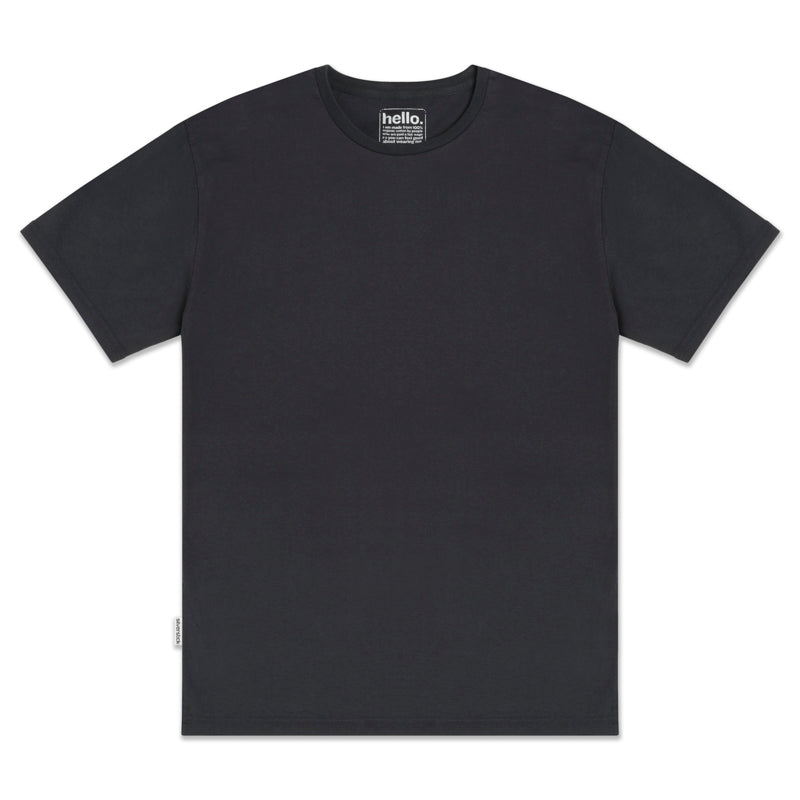 mens adventure organic cotton charcoal t shirt