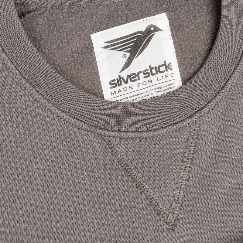 silverstick mens organic cotton nias slate sweat detail