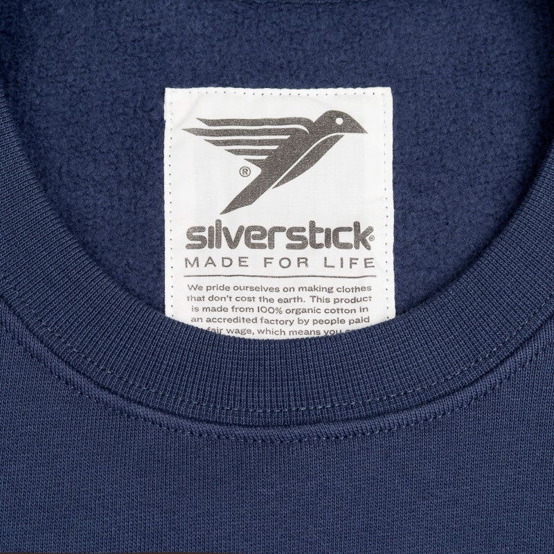 silverstick womens organic cotton arugam navy blue logo made for life