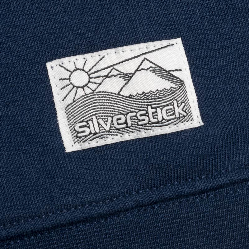 silverstick mens organic cotton nias navy sweat patch label