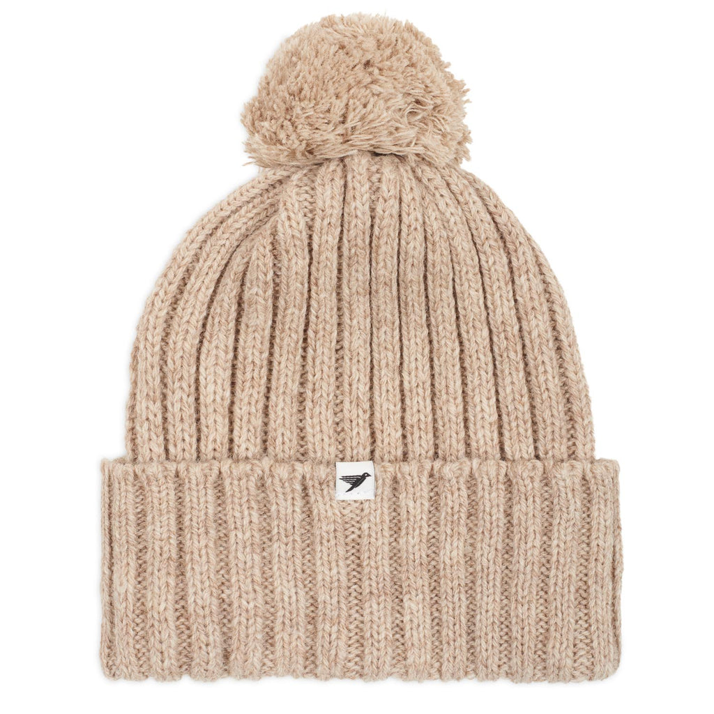 Silverstick Trail New Wool Bobble Hat Oatmeal