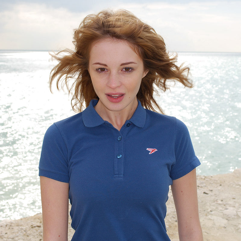 silverstick womens organic cotton earhart navy polo shirt adventure