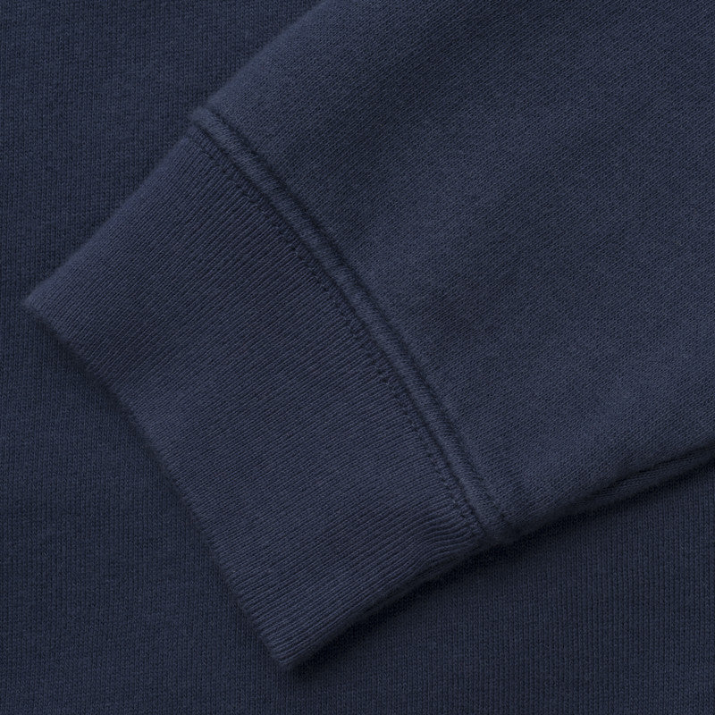 silverstick womens organic cotton lancelin original logo navy hoodie detail