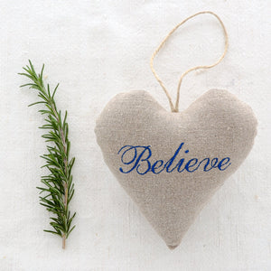 "Christmas Sachet - ""Believe"" filled with lavender from Provence"