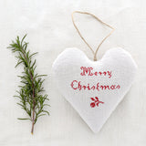 "Christmas Sachet - ""Merry Christmas"" filled with lavender from Provence"