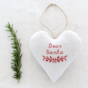 "Christmas Sachet - ""Dear Santa"" filled with lavender from Provence"