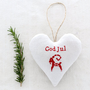 "Christmas Sachet - ""God Jul"" Swedish design filled with lavender from Provence"