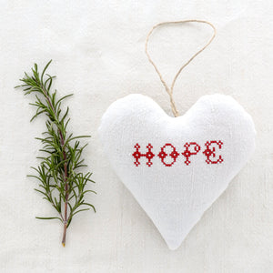 "Christmas Sachet - ""Hope"" filled with lavender from Provence"