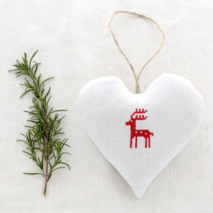 "Christmas Sachet - ""Reindeer"" filled with lavender from Provence"