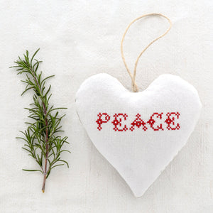 "Christmas Sachet - ""Peace"" filled with lavender from Provence"