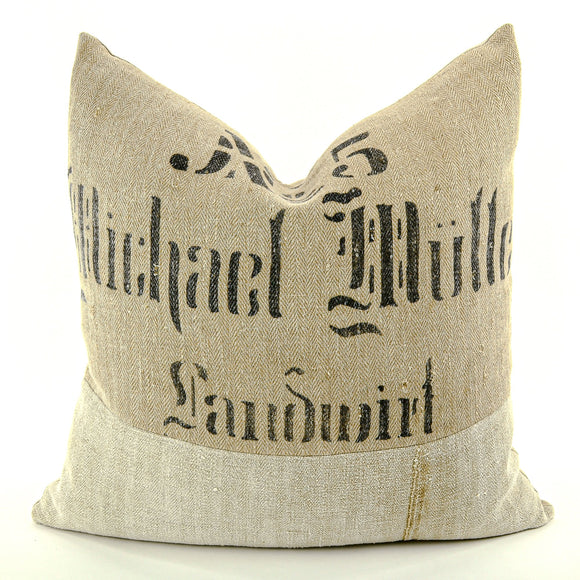 German Grain Sack Pillow - perfect addition to your home décor