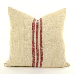 Antique European Grain Sack Linen Pillow - perfect addition to your home décor