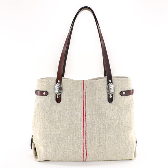 Antique European Grain Sack Linen Handbag - perfect gift for yourself or a special someone