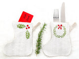 Small Stocking Group showing Gift Card Holder and Table Setting