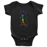 Baby Chakra Australian Cattle Dog Bodysuit