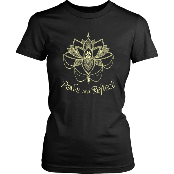 Ladies Paws and Reflect Crewneck Tee