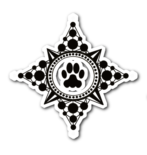Paw Compass Decal