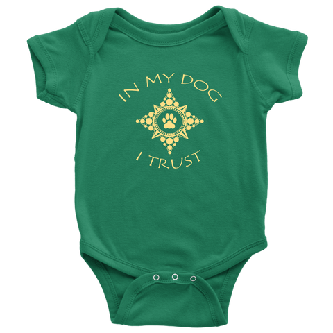 Baby Boy In My Dog I Trust Bodysuit