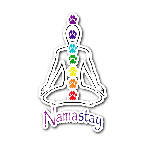 Men's Namastay Sticker