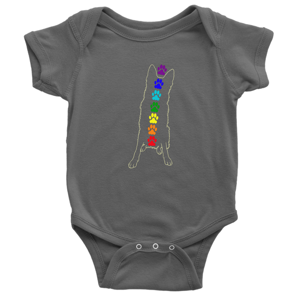 Baby Chakra German Shepherd Dog Bodysuit