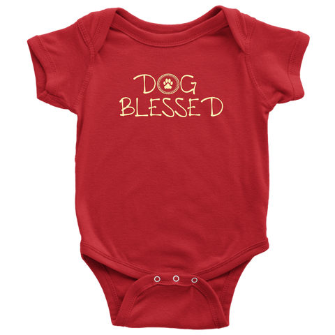 Baby Boy Dog Blessed Bodysuit