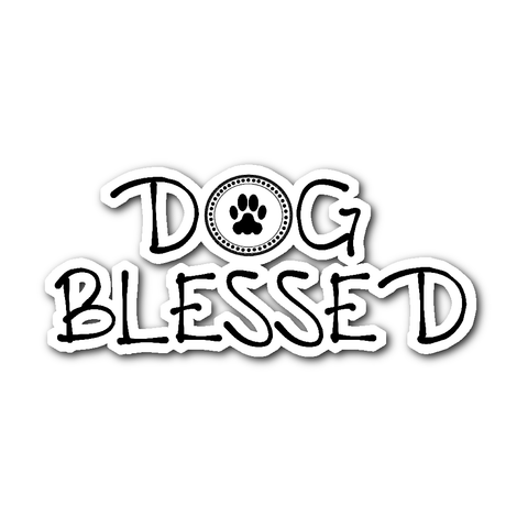 Dog Blessed Sticker
