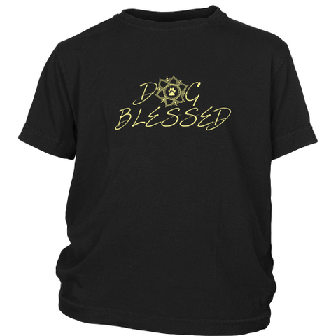 Dog Blessed Girls Dark Tee